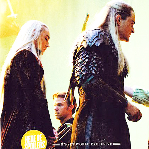 lee pace orlando bloom behind the hobbit scenes