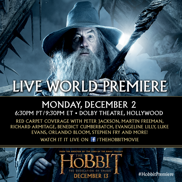 hobbit live stream premiere desolationof smaug