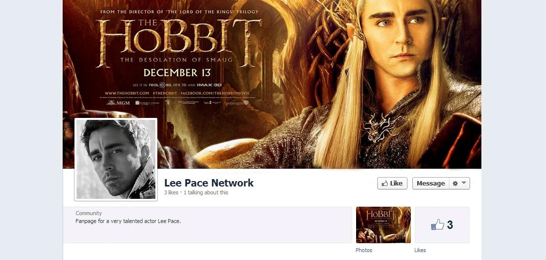 lee pace facebook