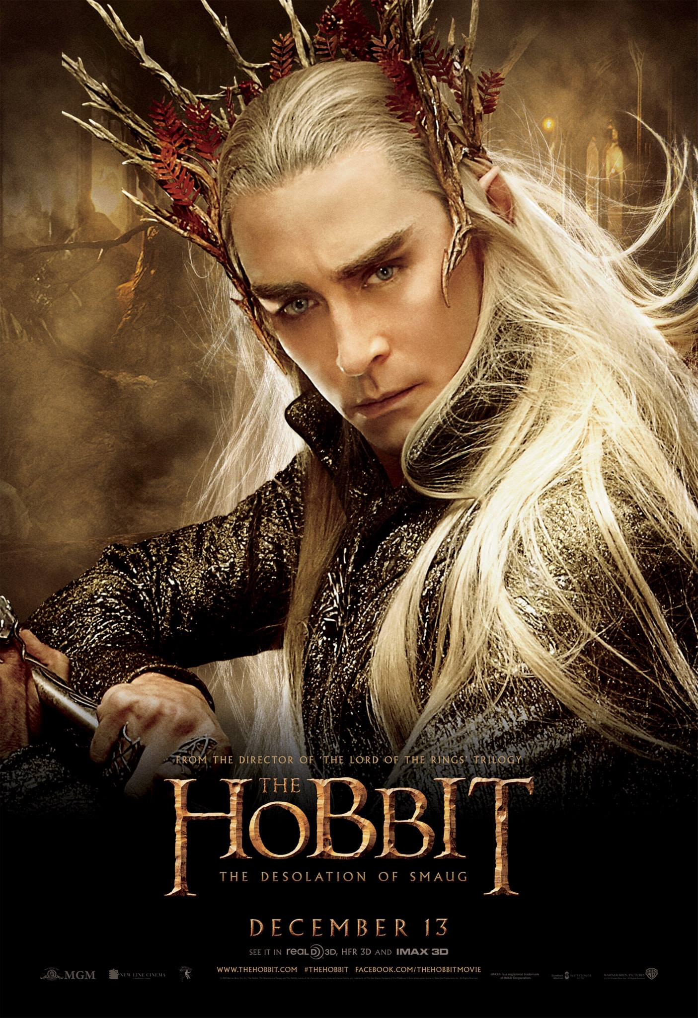 lee pace thranduil the hobbit poster
